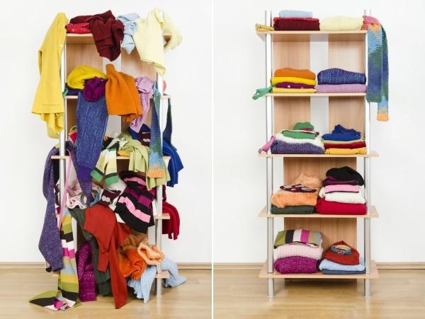 messy closet vs clean closet