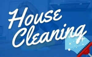 House cleaning services menu