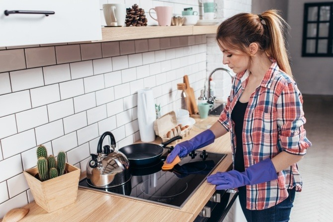 kitchen cleaning in the spring